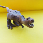 Тираннозавр из пластилина.