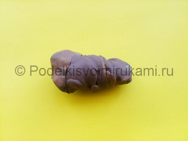 Лепка тираннозавра из пластилина - фото 2.