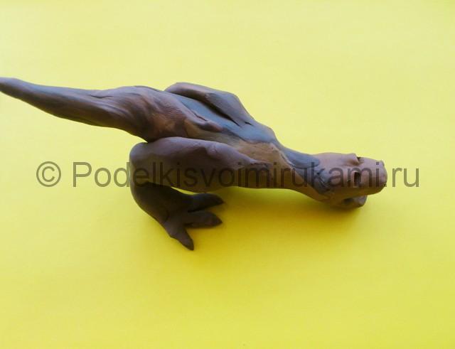Лепка тираннозавра из пластилина - фото 6.
