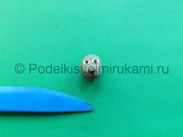 Лепка тюленя из пластилина - фото 2.
