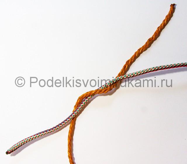 Завязываем морской прямой узел - фото 1.
