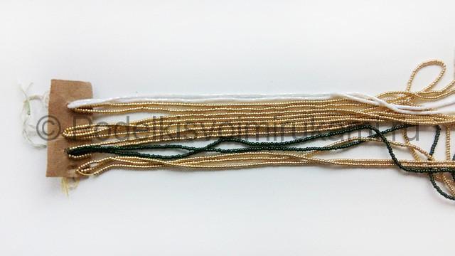 Плетение колье из бисера «Рождественский переплет» - фото 3.