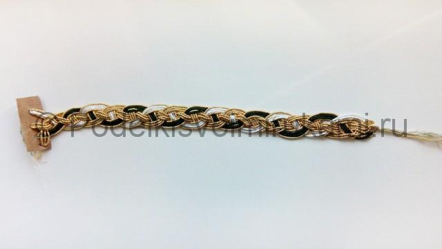 Плетение колье из бисера «Рождественский переплет» - фото 6.