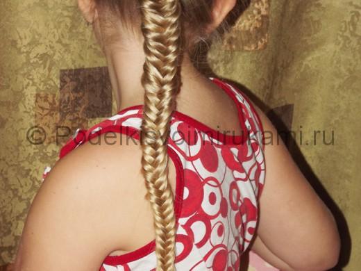 Косичка для девочек «Рыбий хвостик».