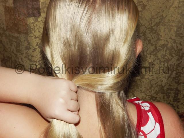 Плетение косичка для девочек «Рыбий хвостик» - фото 3.