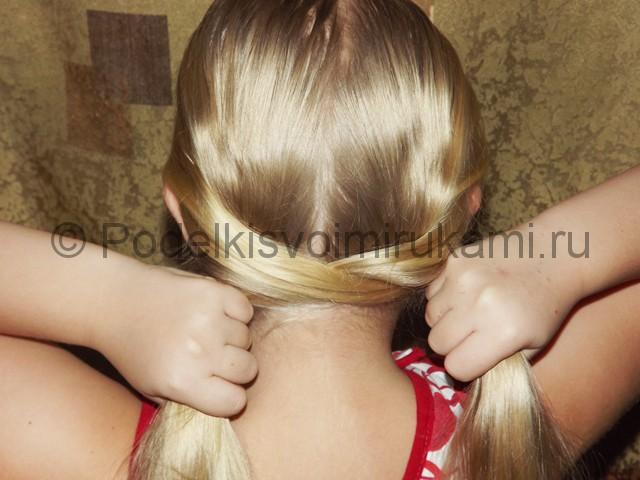 Плетение косичка для девочек «Рыбий хвостик» - фото 4.