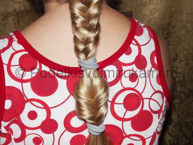 Плетение косичка для девочек «Рыбий хвостик» - фото 6.