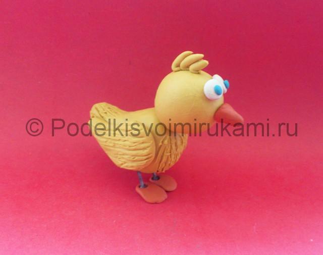 Лепка цыплёнка из пластилина - фото 11.