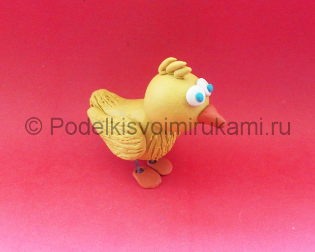 Лепка цыплёнка из пластилина - фото 12.