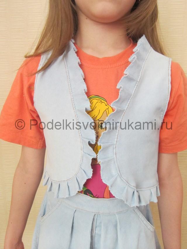 Пошив жилетки для девочки - фото 12.