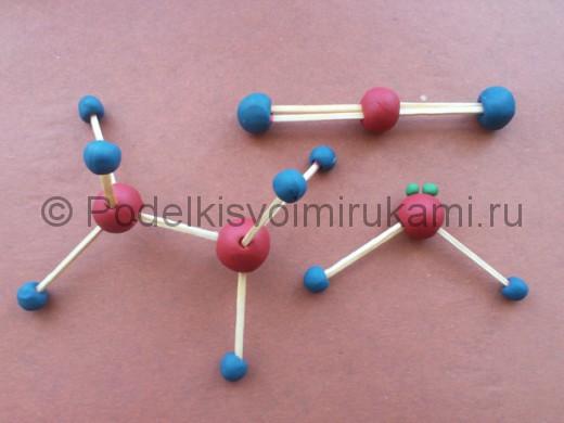 Молекулы из пластилина.