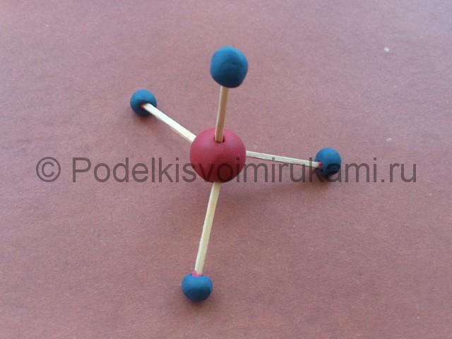 Как сделать атом из пластилина