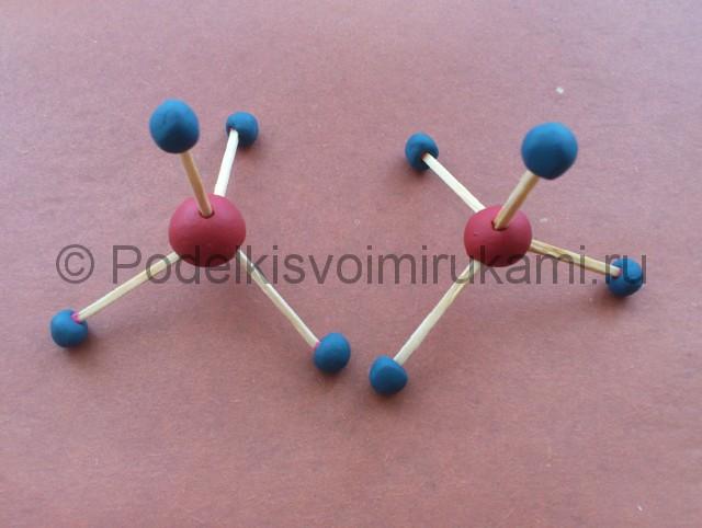 Лепка молекул из пластилина - фото 5.