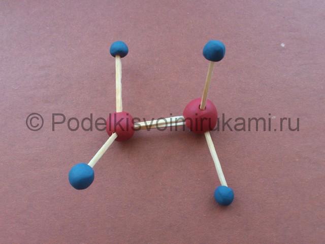 Лепка молекул из пластилина - фото 7.
