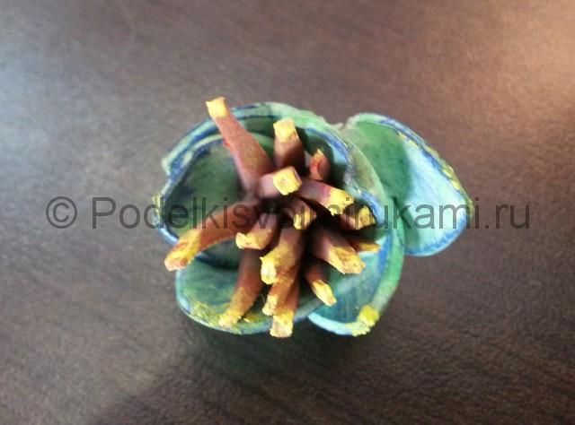 """Делаем перламутровый цветок """"Фантазия"""" из фоамирана - фото 11."""