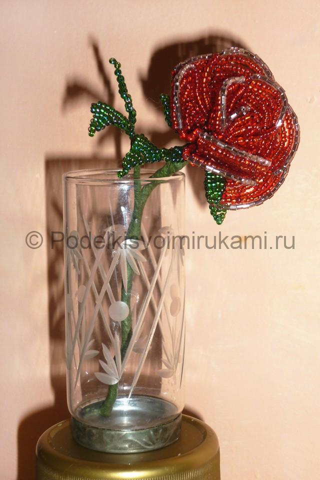 Плетение розы из бисера - фото 31.