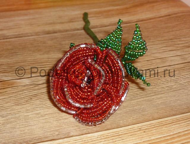 Плетение розы из бисера - фото 32.