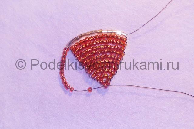 Плетение розы из бисера - фото 13.