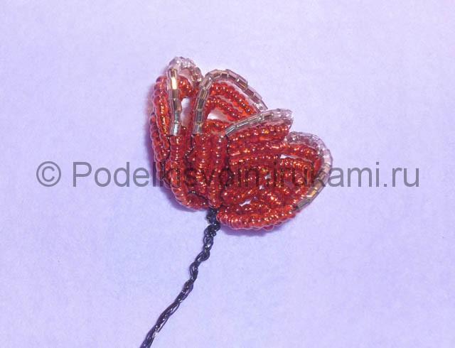 Плетение розы из бисера - фото 16.