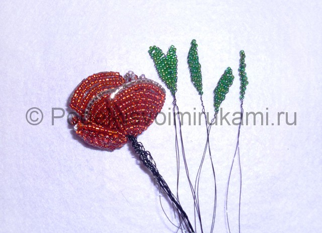 Плетение розы из бисера - фото 22.
