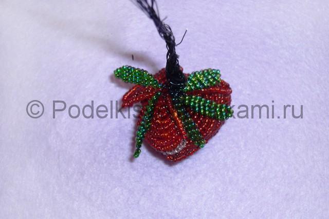Плетение розы из бисера - фото 23.
