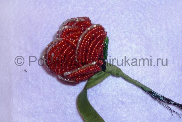 Плетение розы из бисера - фото 24.