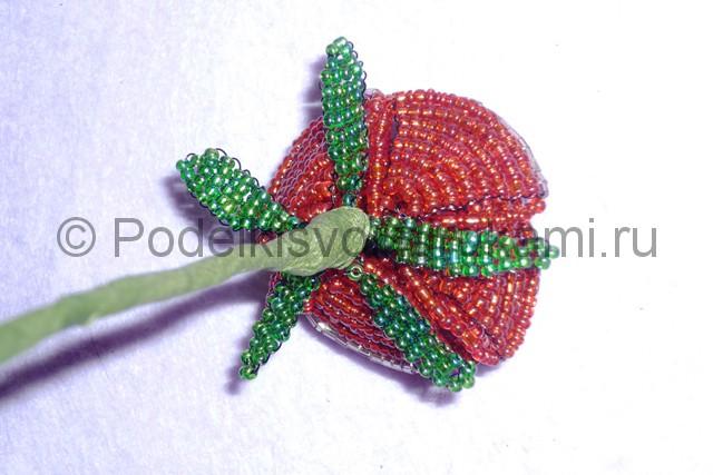 Плетение розы из бисера - фото 25.