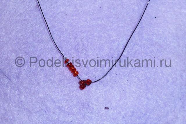 Плетение розы из бисера - фото 6.