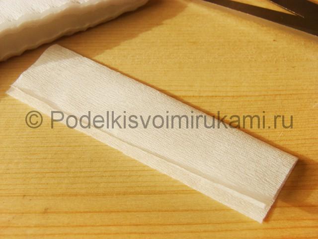 Изготовление подснежников из бумаги - фото 15.