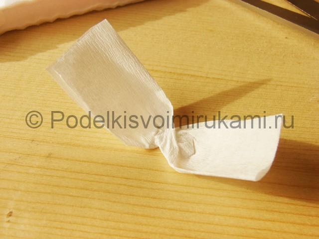 Изготовление подснежников из бумаги - фото 16.