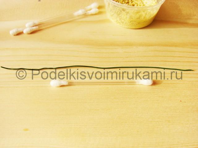 Изготовление подснежников из бумаги - фото 2.