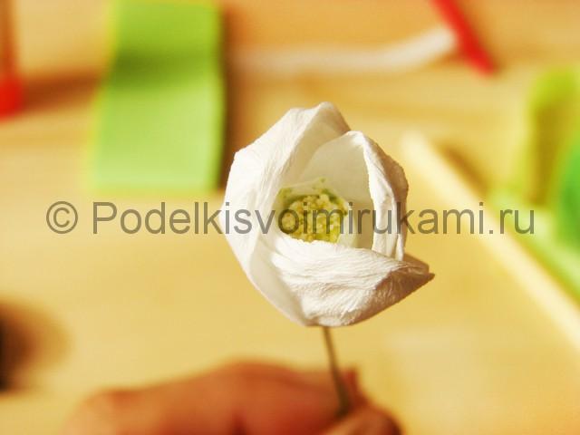 Изготовление подснежников из бумаги - фото 21.