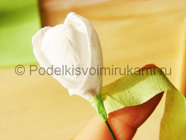 Изготовление подснежников из бумаги - фото 23.