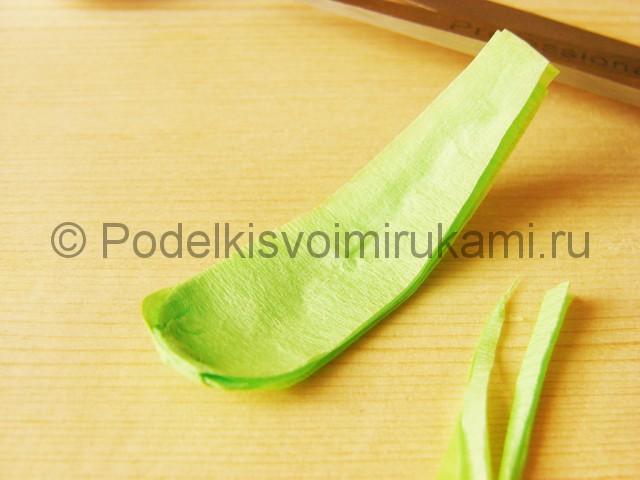 Изготовление подснежников из бумаги - фото 31.