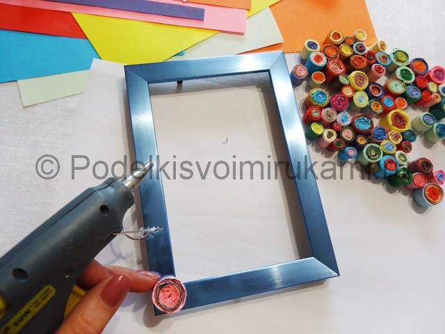 Декупаж рамки для фото «Яркие мгновения» - фото 11.
