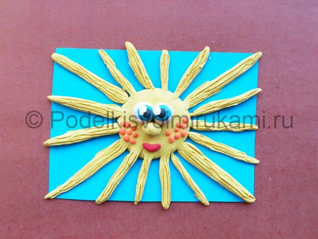 Лепка солнышка с лучиками из пластилина - фото 10.