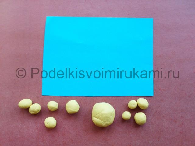 Лепка солнышка с лучиками из пластилина - фото 2.