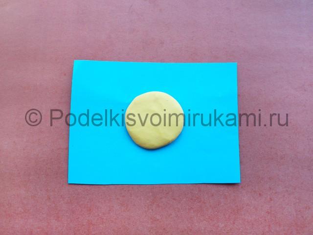 Лепка солнышка с лучиками из пластилина - фото 4.
