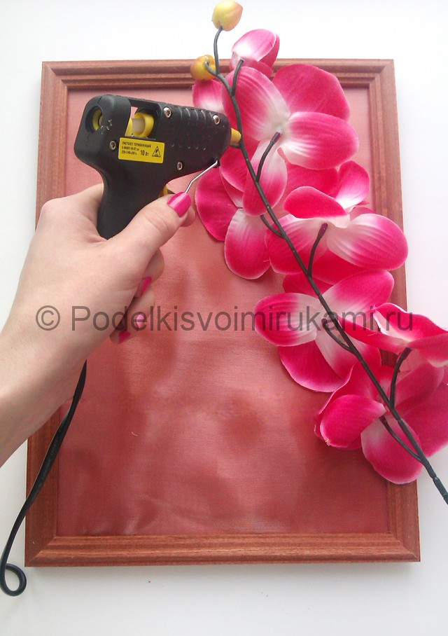 """Создаем панно """"Орхидея"""" для декорирования комнаты - фото 4."""