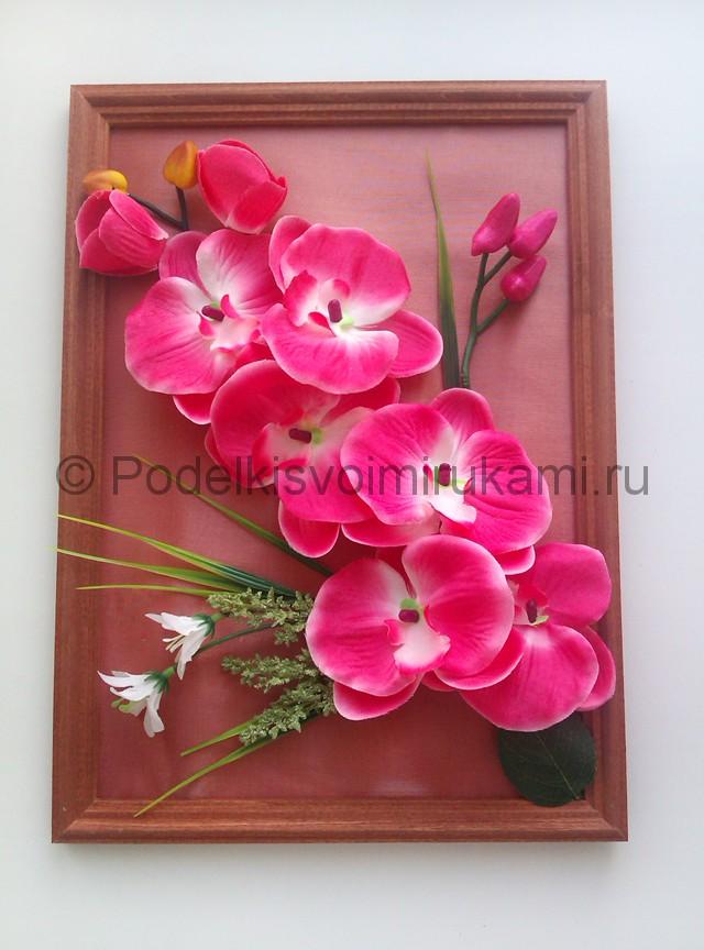 """Создаем панно """"Орхидея"""" для декорирования комнаты - фото 9."""