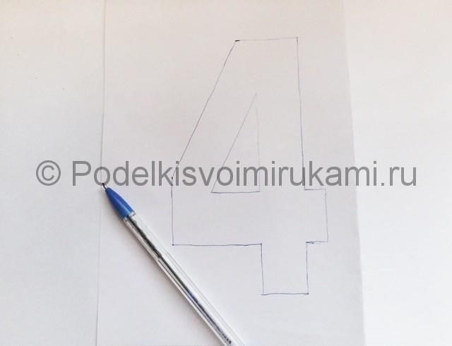 Изготовление таблички с номером на стол для гостей - фото 3.