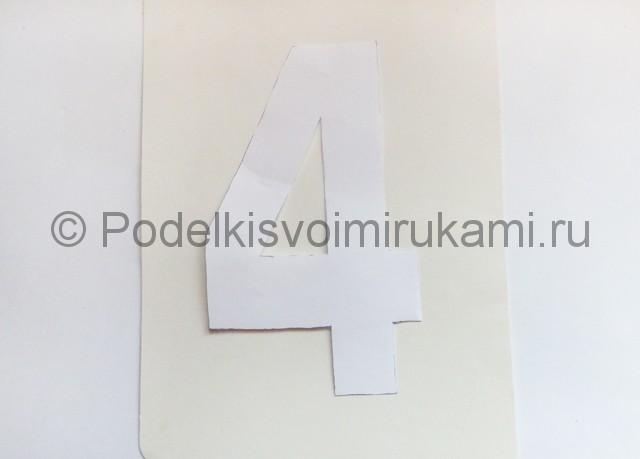 Изготовление таблички с номером на стол для гостей - фото 4.