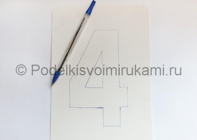 Изготовление таблички с номером на стол для гостей - фото 5.
