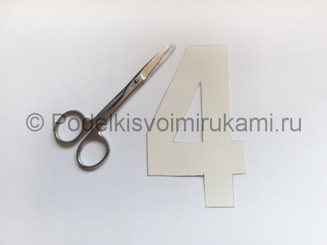 Изготовление таблички с номером на стол для гостей - фото 6.