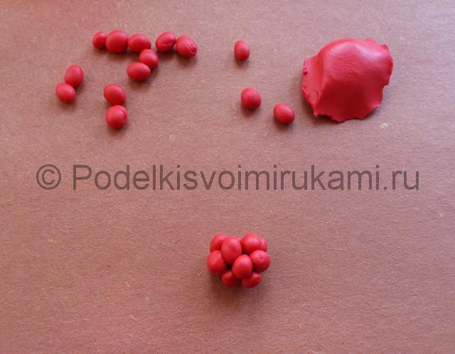 Лепка ягод из пластилина - фото 5.