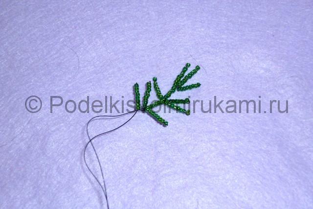 Изготовление ёлки из бисера - фото 12.