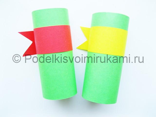 Изготовление черепашек ниндзя из цветной бумаги - фото 8.