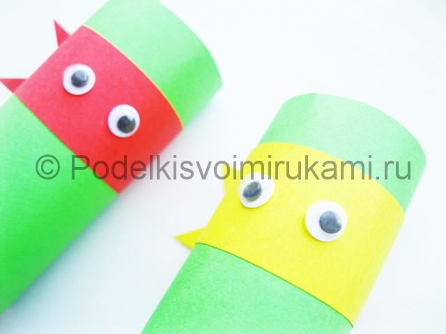 Изготовление черепашек ниндзя из цветной бумаги - фото 9.