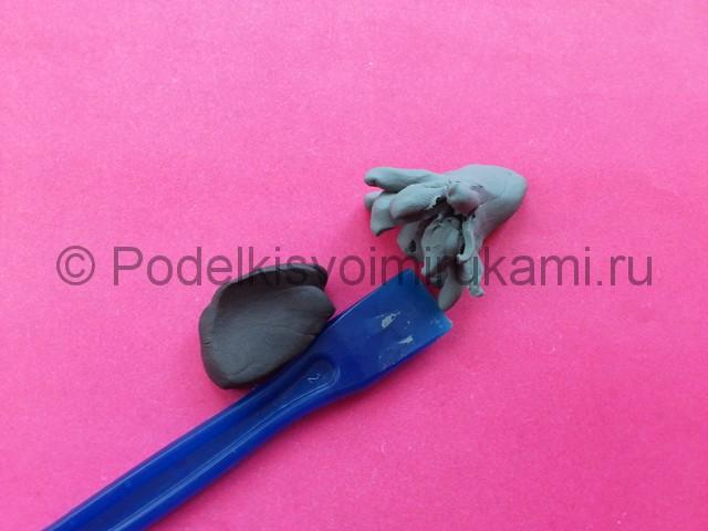 Лепка журавля из пластилина - фото 8.