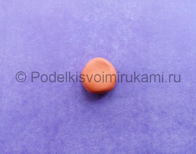 Лепка Фокси из пластилина - фото 2.